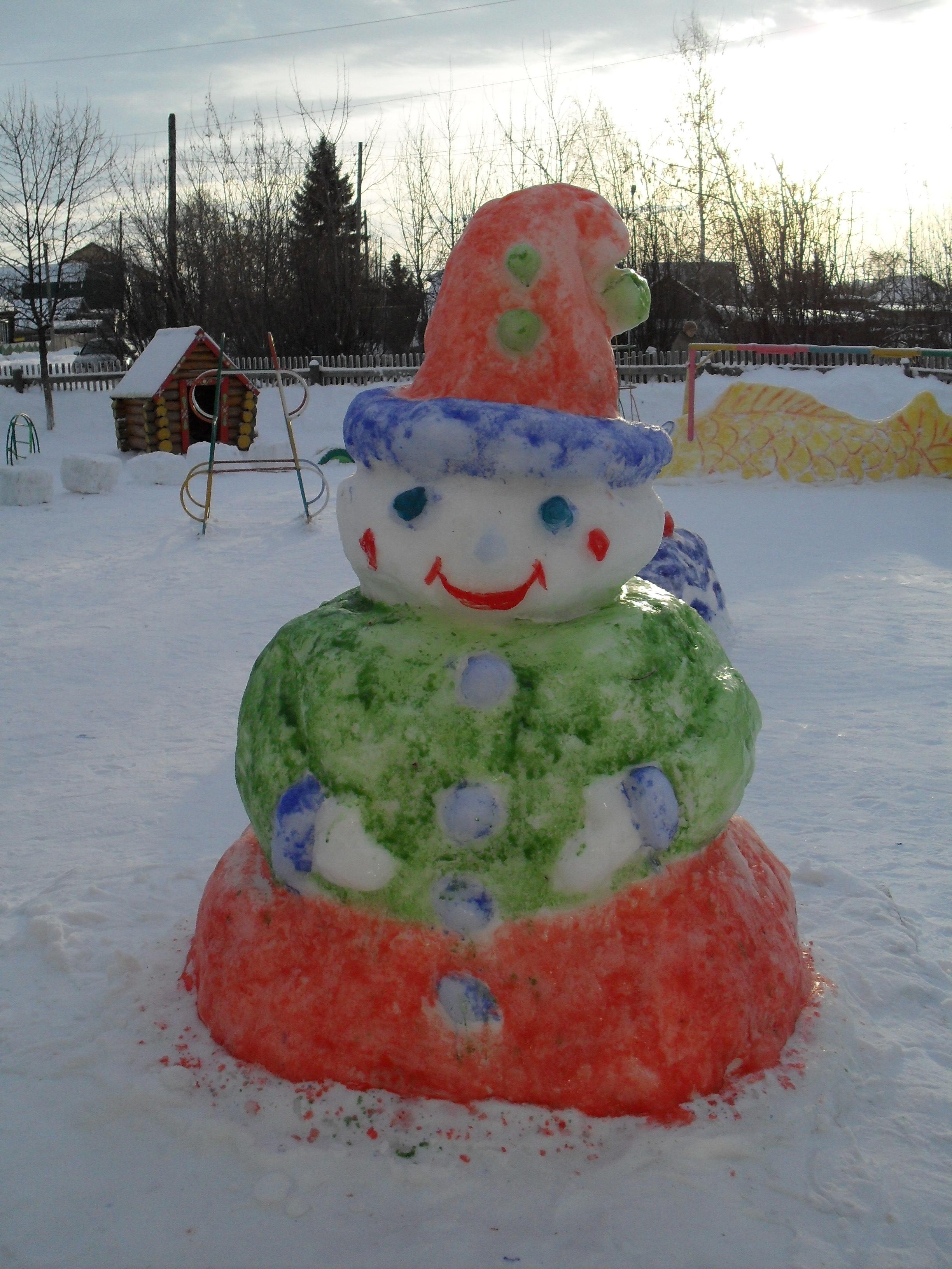 Змея из снега своими руками